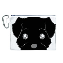 Affenpinscher Cartoon 2 Sided Head Canvas Cosmetic Bag (Large) by TailWags