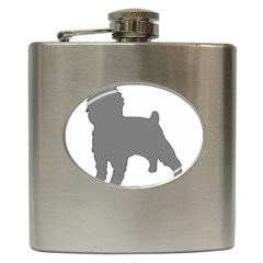 Affenpinscher Color Grey Silo Hip Flask by TailWags