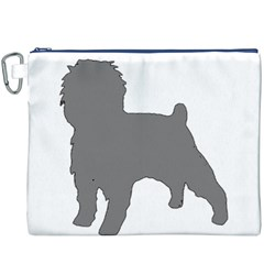 Affenpinscher Color Grey Silo Canvas Cosmetic Bag (XXXL) by TailWags