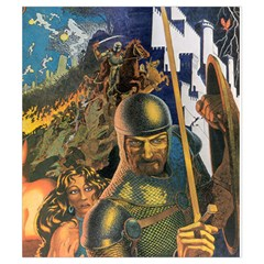 Ad&d 1e Dm Screen Small Pouch (5 25  X 6 ) By Aron Clark   Drawstring Pouch (small)   En8grrflccwb   Www Artscow Com Back