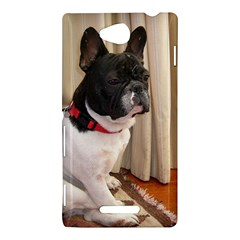 Sitting 3 French Bulldog Sony Xperia C (S39H) Hardshell Case by TailWags