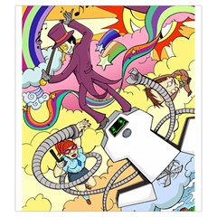Superjail Large Dice Bag By Capnyb   Drawstring Pouch (large)   Onkr5987b6uh   Www Artscow Com Front