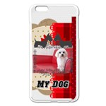 pet - Apple iPhone 6 Plus/6S Plus Enamel White Case