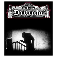 Fury Of Dracula First Edition By Hector Cornejo   Drawstring Pouch (medium)   5w34pbvu8fqo   Www Artscow Com Front