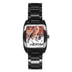 Shao Lin Ta Peng Hsiao Tzu D80d4dae Stainless Steel Barrel Watch by GWAILO