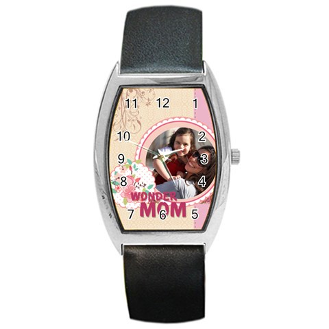 Mothers Day By Mom   Barrel Style Metal Watch   S8dayzt7od1t   Www Artscow Com Front