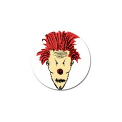Evil Clown Hand Draw Illustration Golf Ball Marker 4 Pack by dflcprints