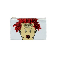 Evil Clown Hand Draw Illustration Cosmetic Bag (small) by dflcprints