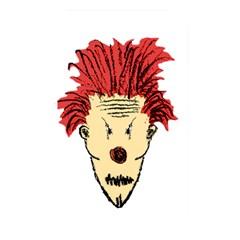 Evil Clown Hand Draw Illustration Memory Card Reader (rectangular) by dflcprints