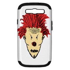 Evil Clown Hand Draw Illustration Samsung Galaxy S Iii Hardshell Case (pc+silicone) by dflcprints