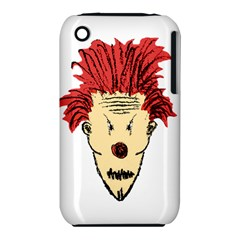 Evil Clown Hand Draw Illustration Apple Iphone 3g/3gs Hardshell Case (pc+silicone) by dflcprints