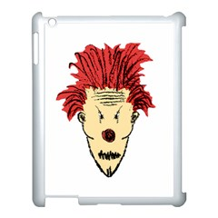 Evil Clown Hand Draw Illustration Apple Ipad 3/4 Case (white) by dflcprints