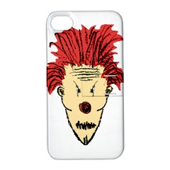 Evil Clown Hand Draw Illustration Apple Iphone 4/4s Hardshell Case With Stand by dflcprints