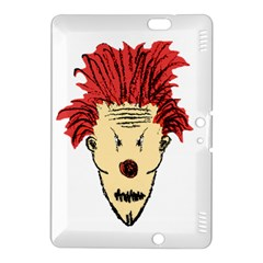 Evil Clown Hand Draw Illustration Kindle Fire Hdx 8 9  Hardshell Case by dflcprints