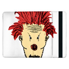 Evil Clown Hand Draw Illustration Samsung Galaxy Tab Pro 12 2  Flip Case by dflcprints