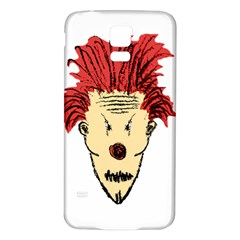 Evil Clown Hand Draw Illustration Samsung Galaxy S5 Back Case (white) by dflcprints