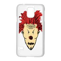 Evil Clown Hand Draw Illustration Samsung Galaxy S5 Case (white) by dflcprints