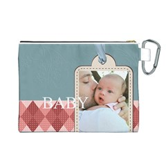 Baby By Baby   Canvas Cosmetic Bag (large)   Tehd18k9cs7x   Www Artscow Com Back