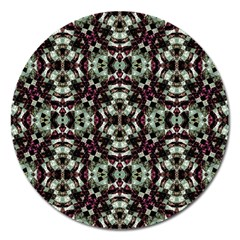 Geometric Grunge Magnet 5  (round) by dflcprints