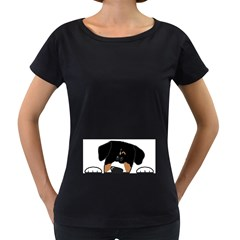 Peeping Entlebucher Women s Loose-Fit T-Shirt (Black) by TailWags