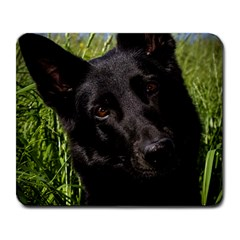Black German Shepherd Large Mouse Pad (Rectangle) by TailWags