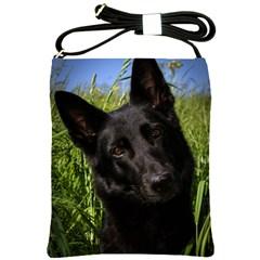 Black German Shepherd Shoulder Sling Bag by TailWags