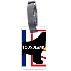 Newfoundland Name Silo On Flag Luggage Tag (One Side) by TailWags