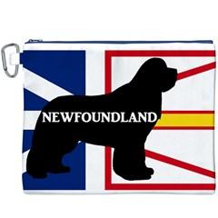 Newfoundland Name Silo On Flag Canvas Cosmetic Bag (XXXL) by TailWags