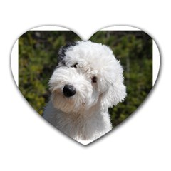 Old English Sheep Dog Pup Mouse Pad (Heart) by TailWags