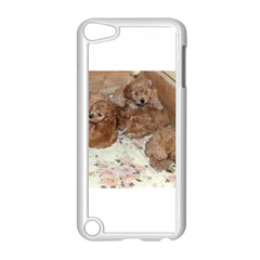 Apricot Poodle Pups Apple iPod Touch 5 Case (White) by TailWags