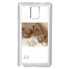 Apricot Poodle Pups Samsung Galaxy Note 4 Case (White) by TailWags