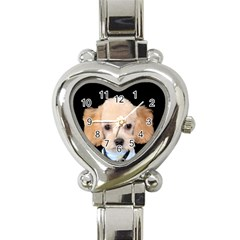 Apricot Poodle Heart Italian Charm Watch  by TailWags