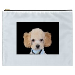 Apricot Poodle Cosmetic Bag (XXXL) by TailWags
