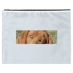 Redbone Coonhound Eyes Cosmetic Bag (XXXL) by TailWags