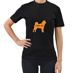 Shiba Inu Name Silo Color Women s T-shirt (Black) by TailWags