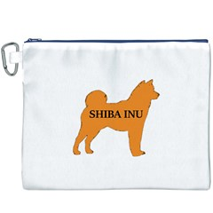 Shiba Inu Name Silo Color Canvas Cosmetic Bag (XXXL) by TailWags