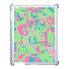 Pastel chaos Apple iPad 3/4 Case (White) by LalyLauraFLM