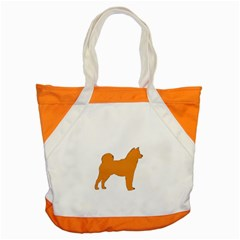 Shiba Inu Silo Color Accent Tote Bag by TailWags