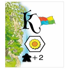 Keyflower Summer Tiles By Jon   Drawstring Pouch (medium)   6mgyyhavw8g5   Www Artscow Com Front