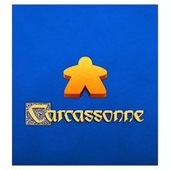 Carcassonne By Keven Ruest   Drawstring Pouch (large)   N26dk8drt9eu   Www Artscow Com Front