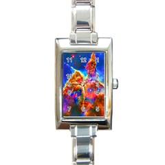 Cosmic Mind Rectangular Italian Charm Watch by icarusismartdesigns