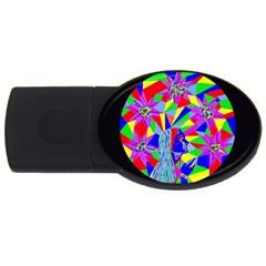 Star Seeker 2gb Usb Flash Drive (oval) by icarusismartdesigns