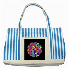 Star Seeker Blue Striped Tote Bag by icarusismartdesigns