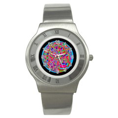 Magical Trance Stainless Steel Watch (slim) by icarusismartdesigns
