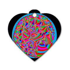 Magical Trance Dog Tag Heart (two Sided) by icarusismartdesigns