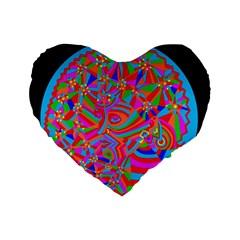Magical Trance Standard 16  Premium Heart Shape Cushion  by icarusismartdesigns