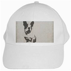 French Bulldog Art White Baseball Cap by TailWags