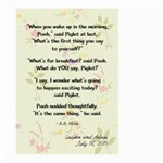Flag - Pooh quote - Large Garden Flag (Two Sides)