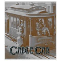 Cable Car Draw Bag By Dean   Drawstring Pouch (medium)   Qhgot1vl0fby   Www Artscow Com Back