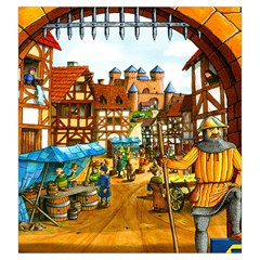 Carcassonne Castle By Dean   Drawstring Pouch (large)   Kyvgwla65ghi   Www Artscow Com Front